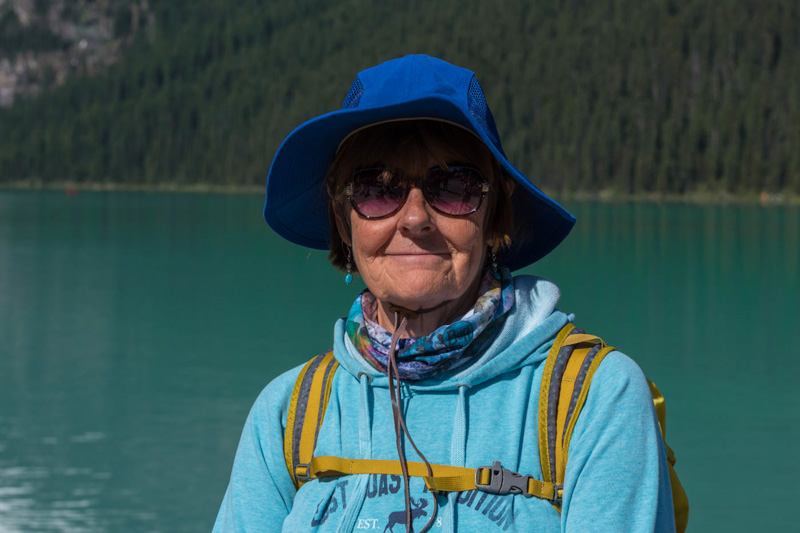 Carol at lake louise