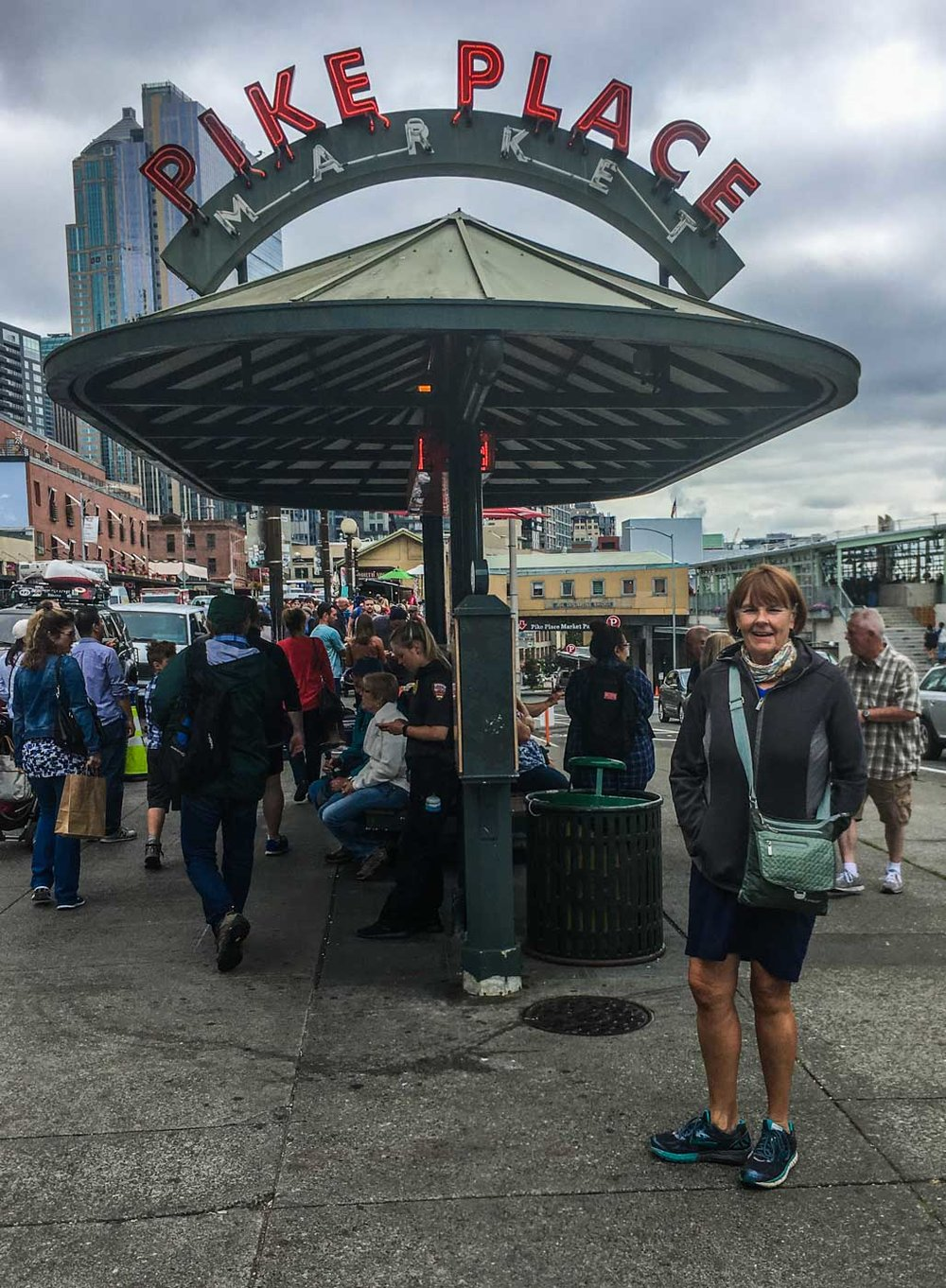 Arriving at Pike Place