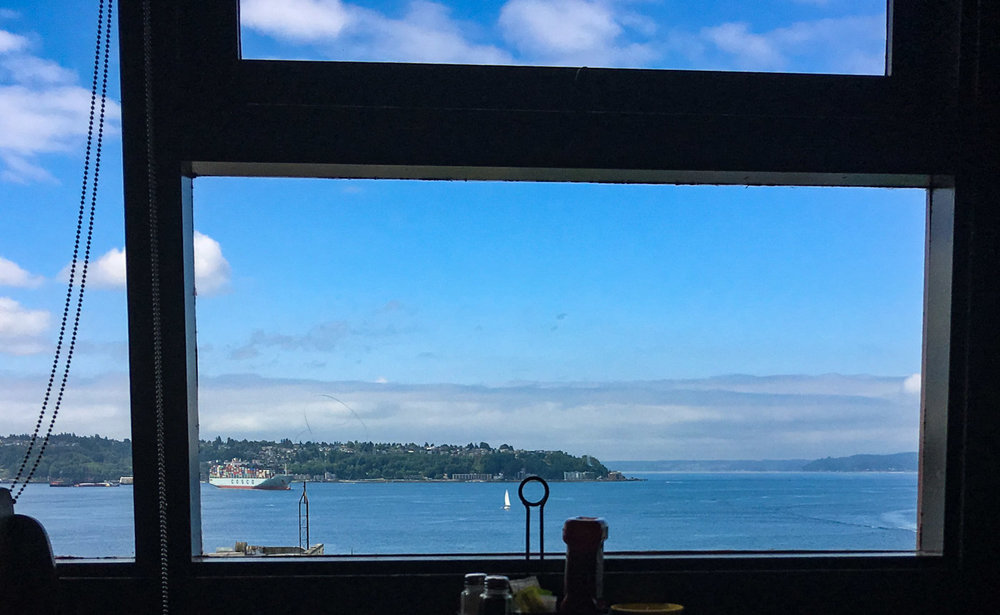 view of elliot bay from the restaurant