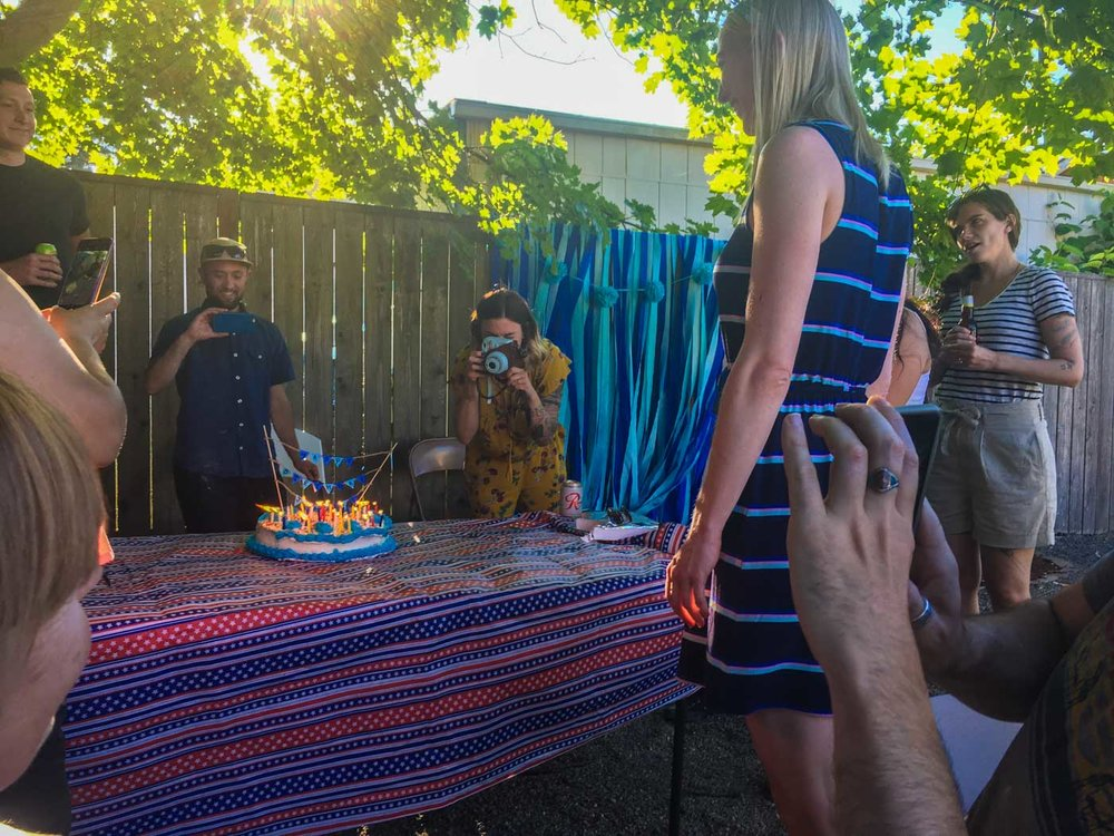 Jenny's birthday cake