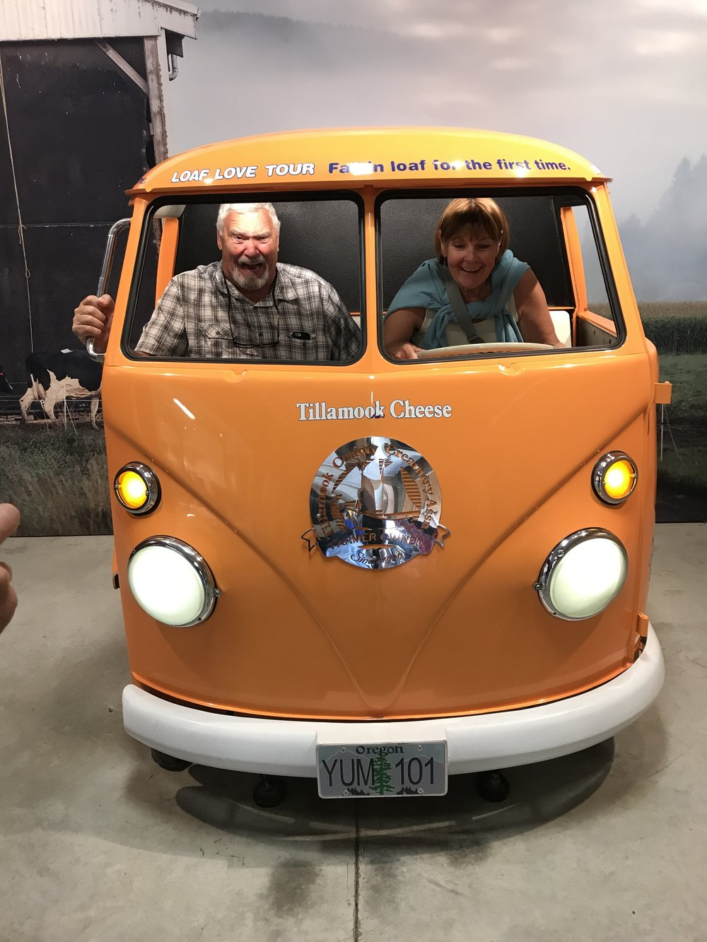 I never let nana drive!! Tillamook cheese factory