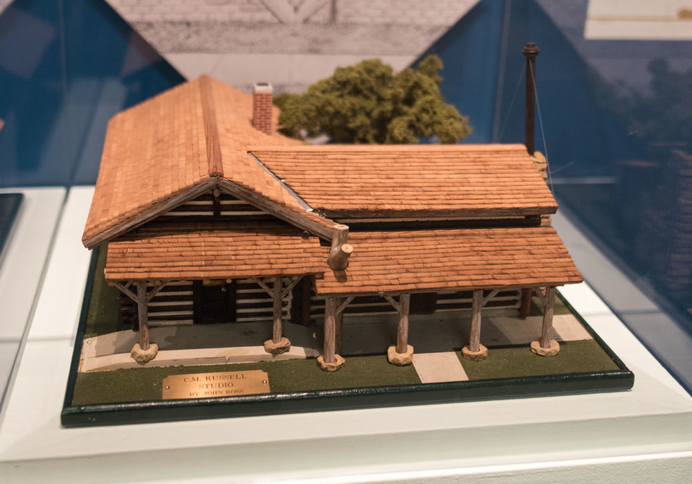 model of Russell's studio