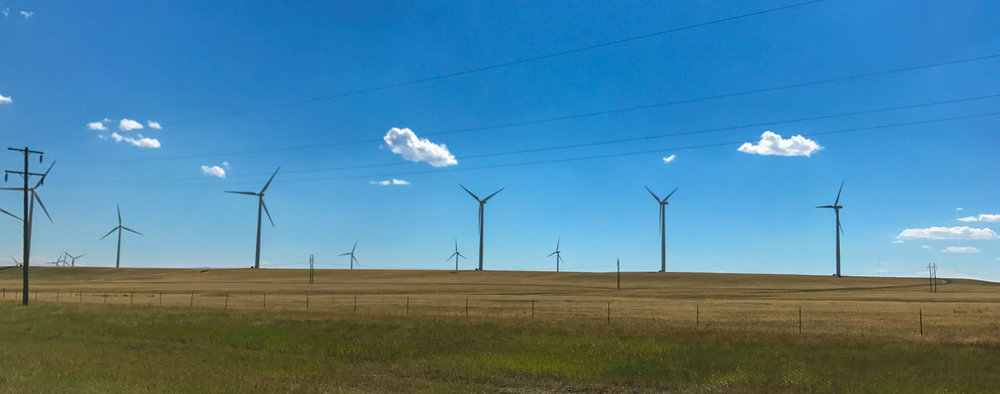 windmills in oil country