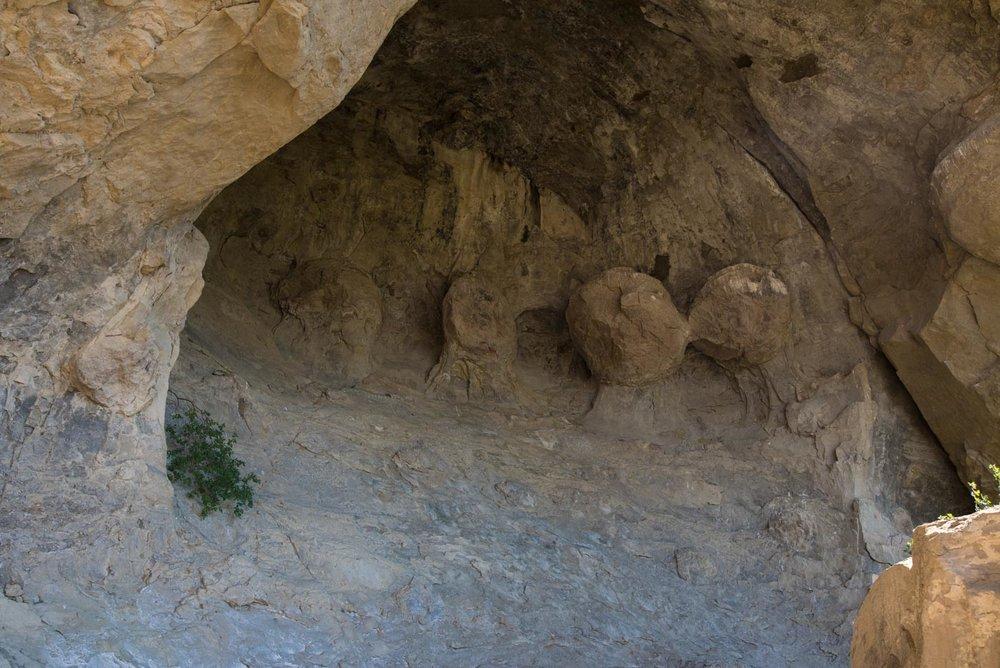 strange rocks in a cave