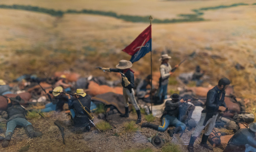 In the museum, Custer makes his stand
