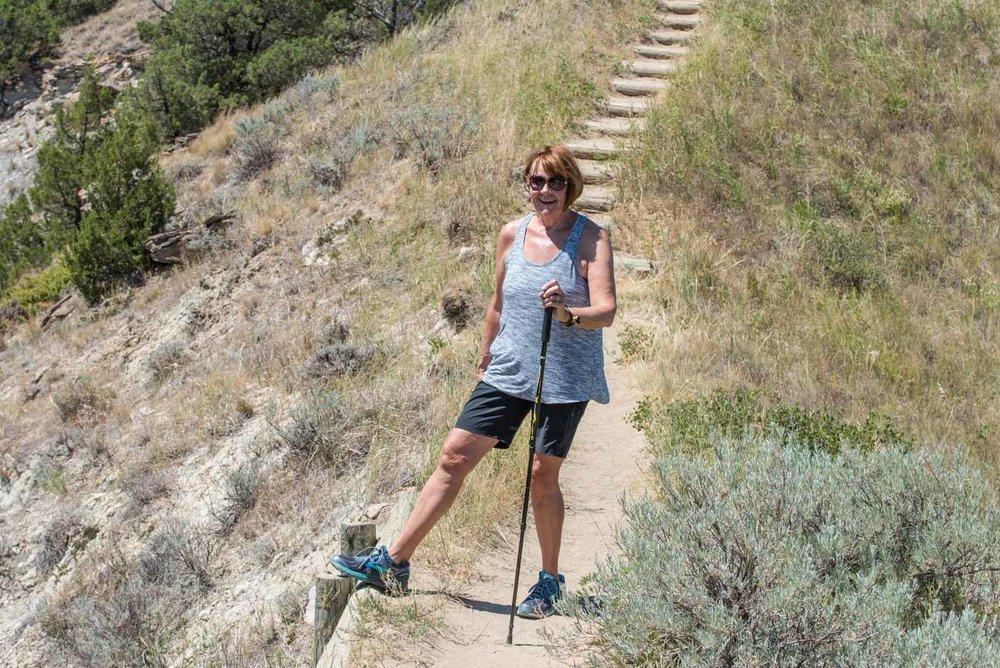 Carol on the ridge line trail