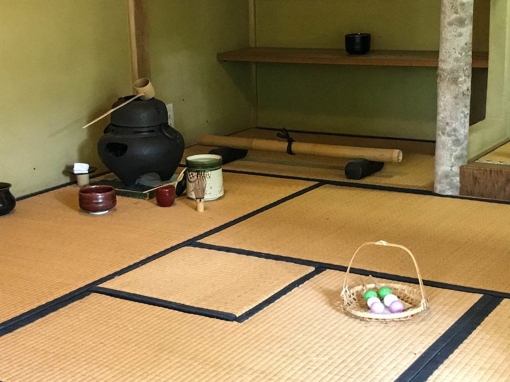 inside japanese tea house