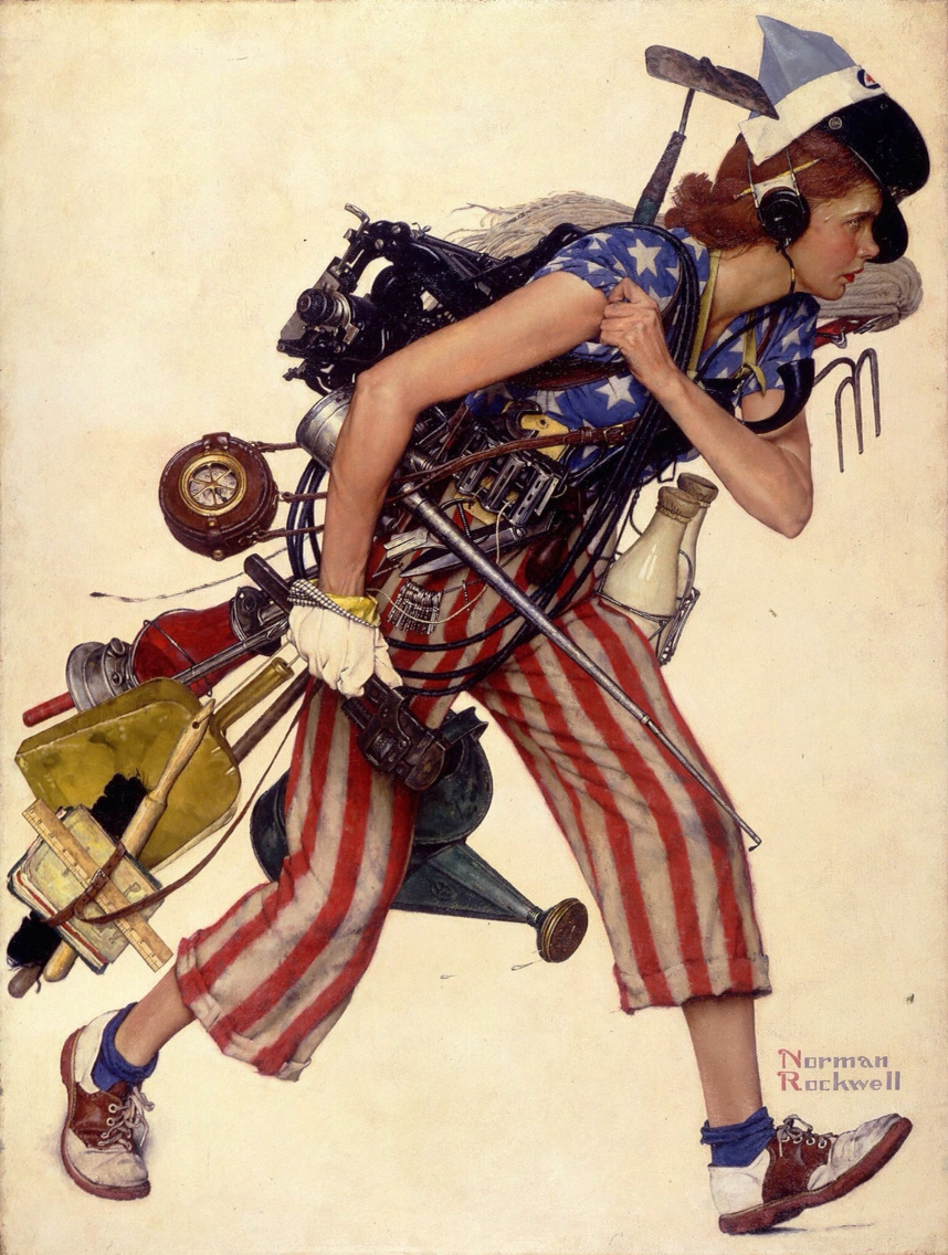 Miss Liberty,  Norman Rockwell
