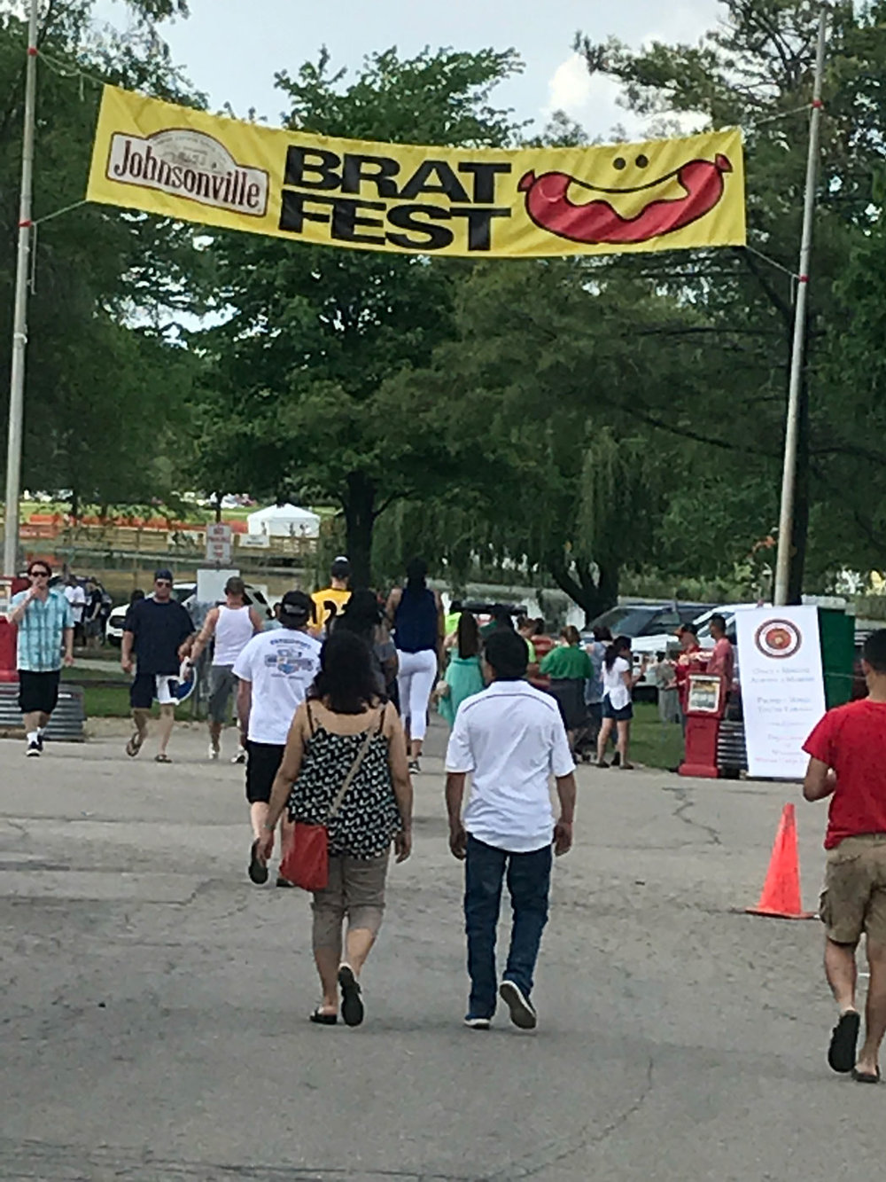 Brat fest! ...and a smiling brat to welcome us!
