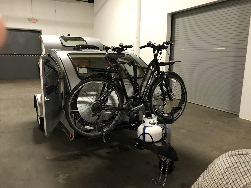 Bike rack works!