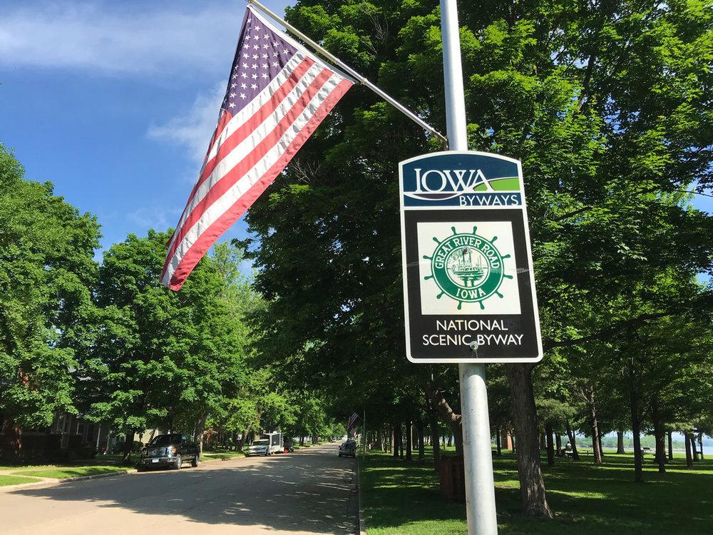 Gutenberg, Iowa riverfront park