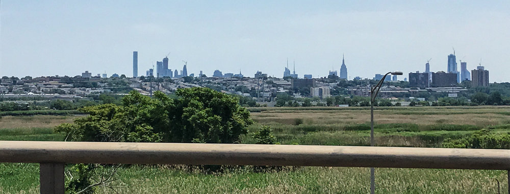 NYC from Route 95 in New Jersey