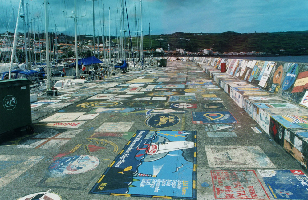 Marina in Horta, Faial, Azores 1998