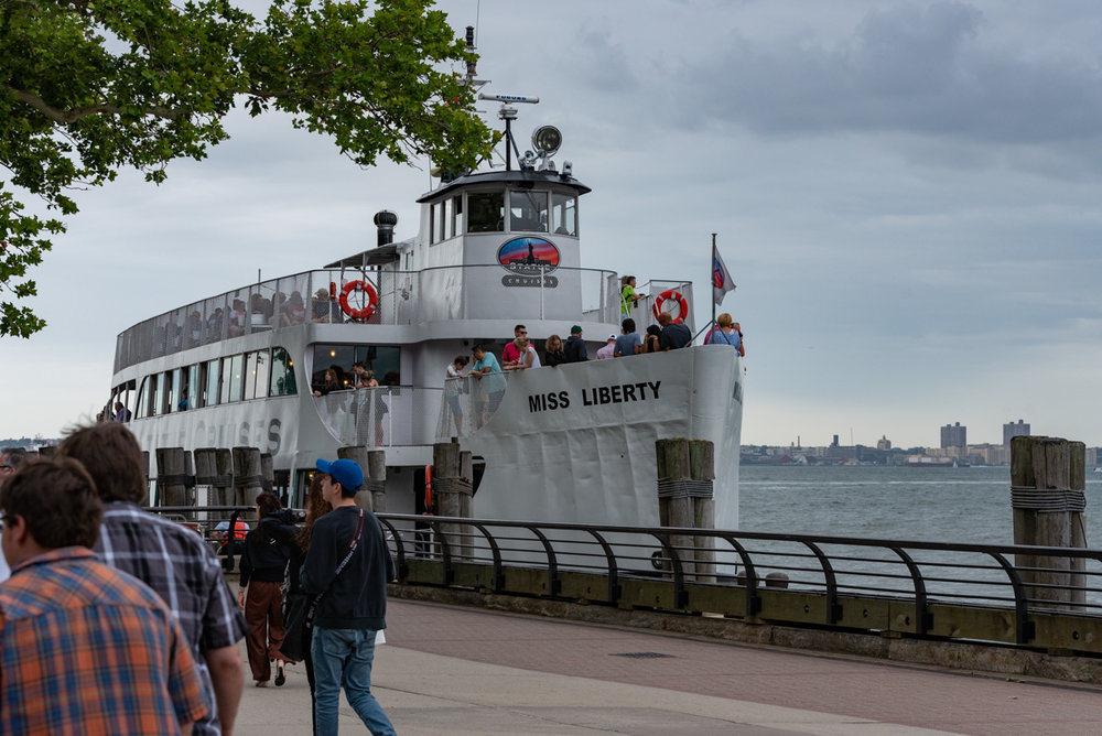 One of the ferry boats that goes between the islands