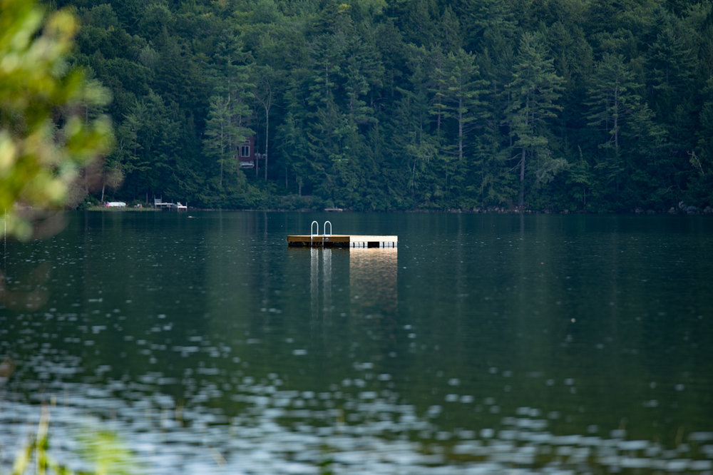 The swimming float, beautiful water