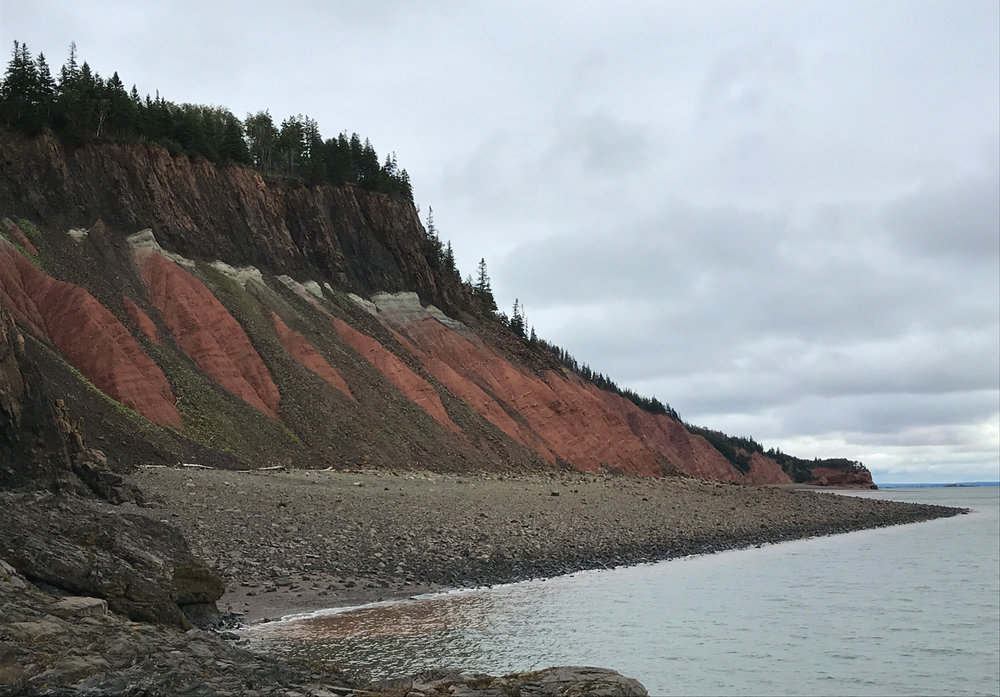 Amazing colors along the bluffs