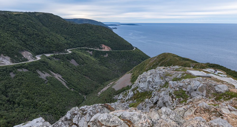 A view of Cape Breton from the Skyline Train along the ridge.