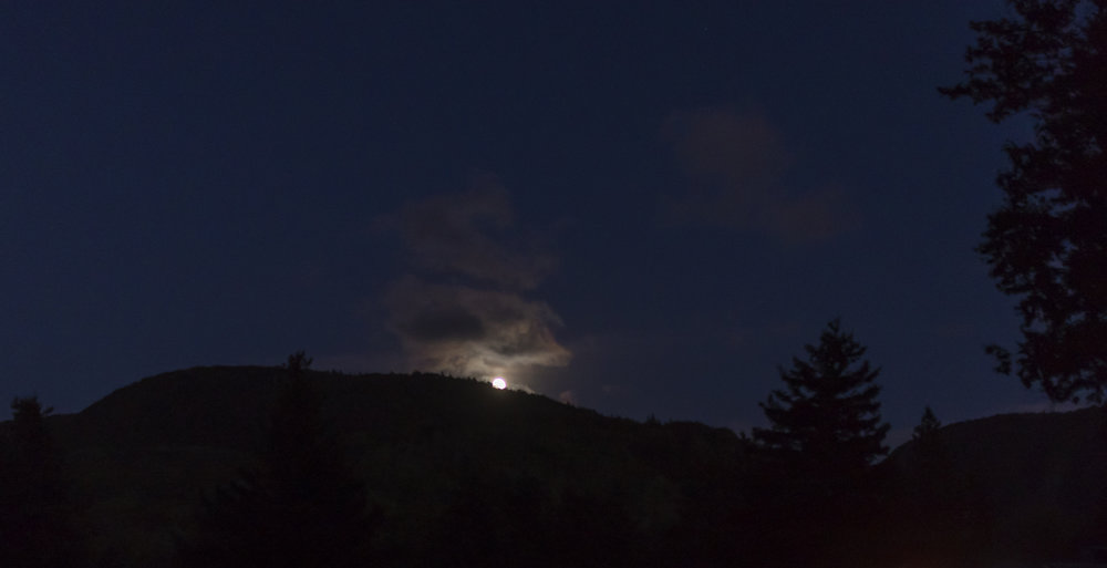 Moonrise over the mountain