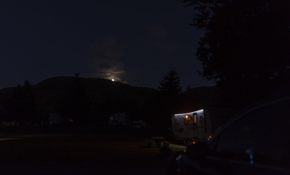 Moonrise over the campground