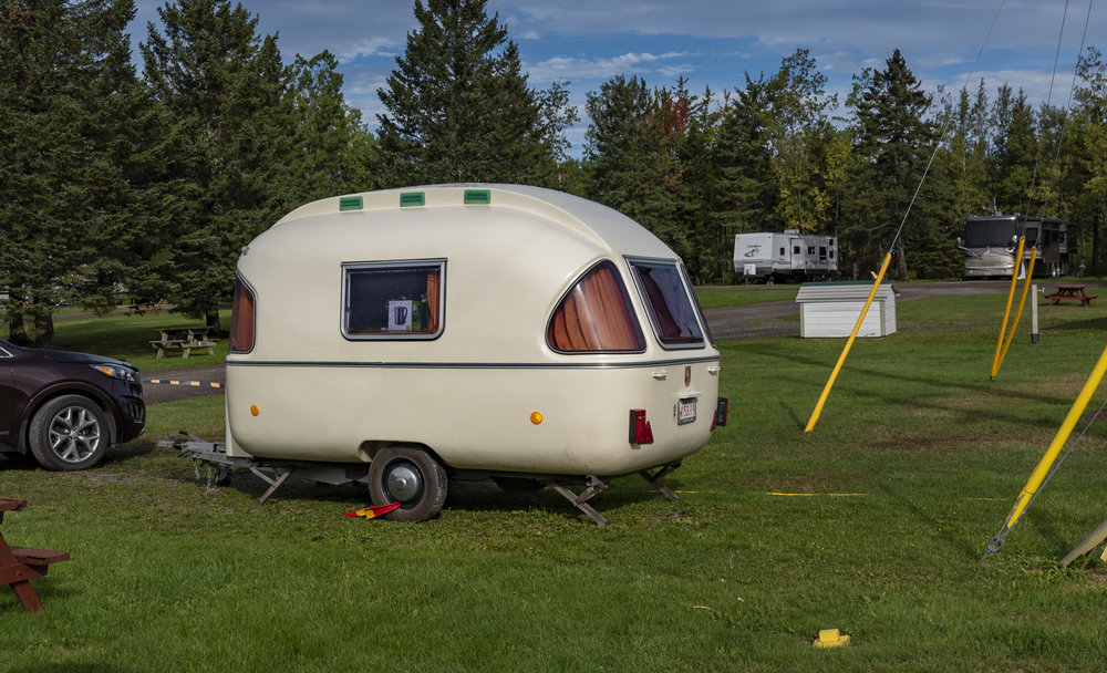 Cute little bubble-like trailer
