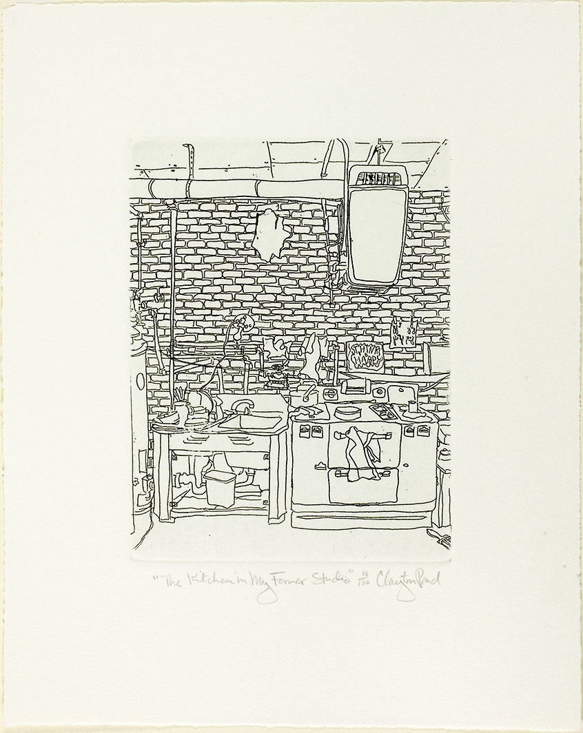 "Pond, Clayton. ""The Kitchen in My Former Studio."" 1968."