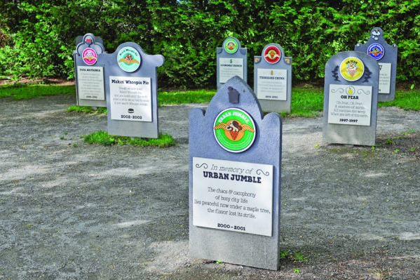 The Flavor Graveyard at Ben & Jerry's, where you can pay your respects to past flavors no longer in production.