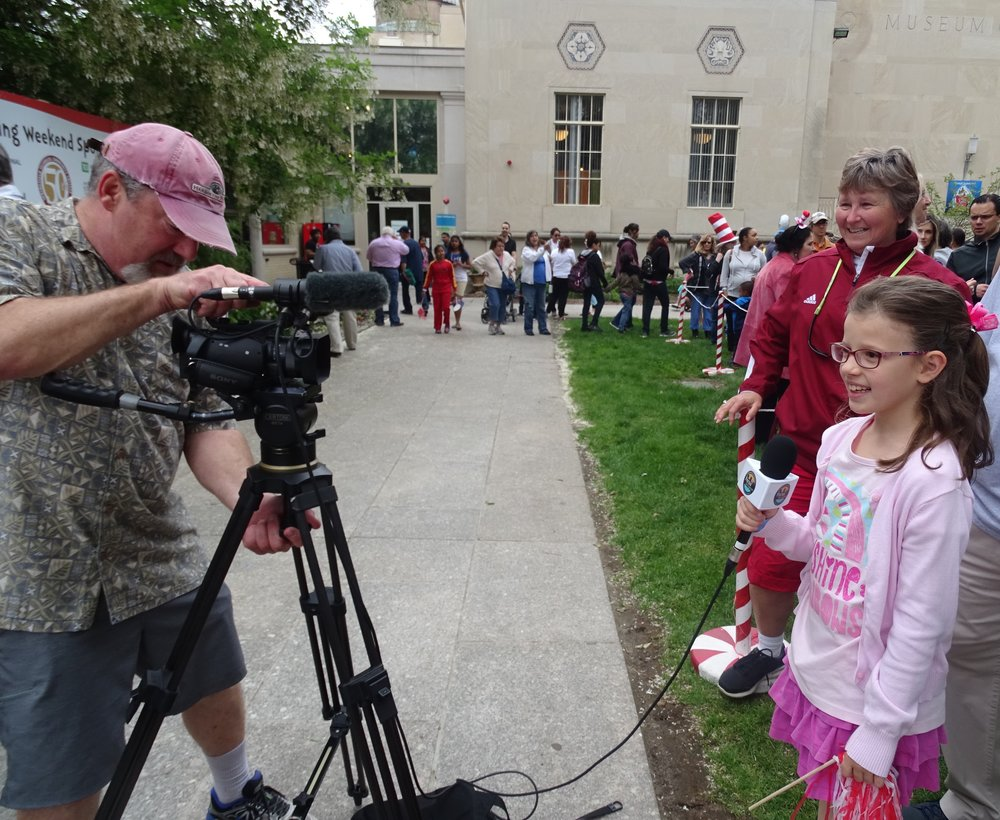 My daughter was interviewed by a local television station about her favorite Dr. Seuss books, as her great aunt watched.