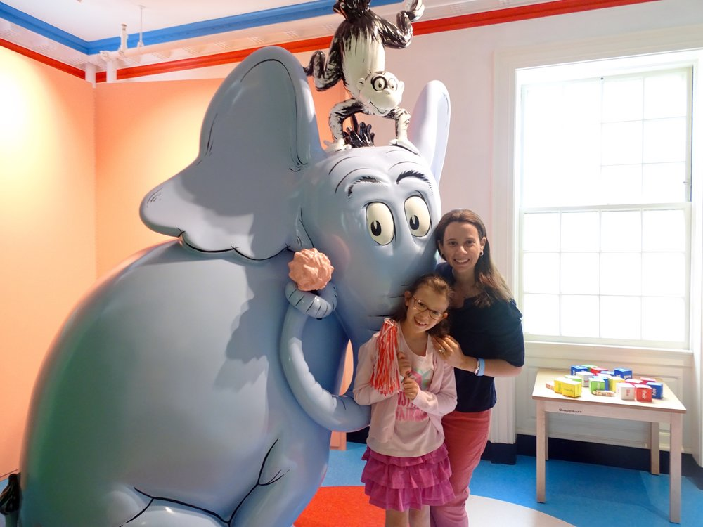 Posing with one of our favorite characters, Horton.