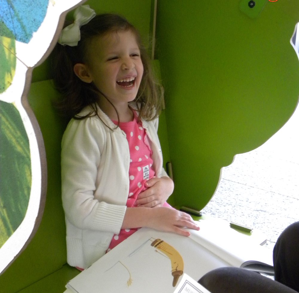 """My daughter, inside the """"Very Hungry Caterpillar"""" is always amused by the story """"The Day the Crayons Quit."""""""