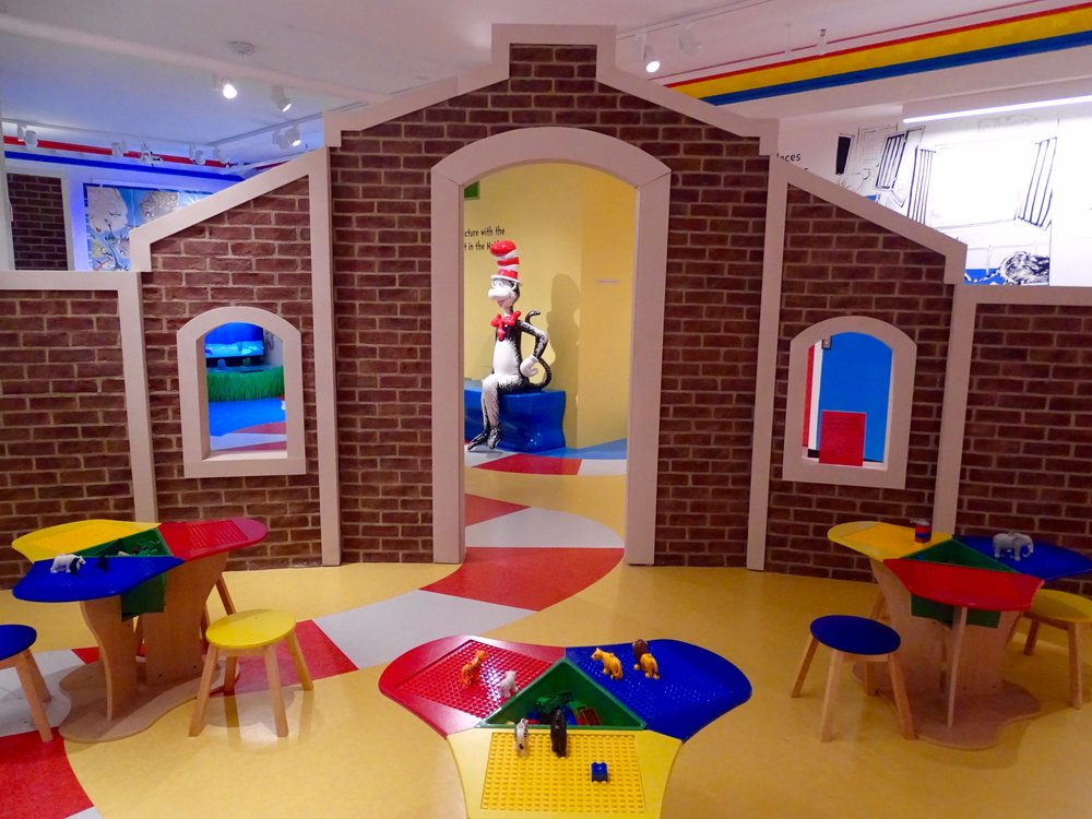 The lego room is a perfect spot to occupy little ones while adults check out the upper floor.