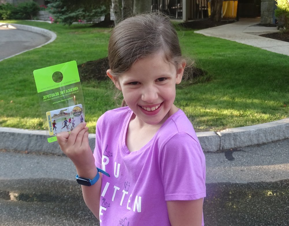 My daughter was super excited each day when the park ranger asked for her identification.