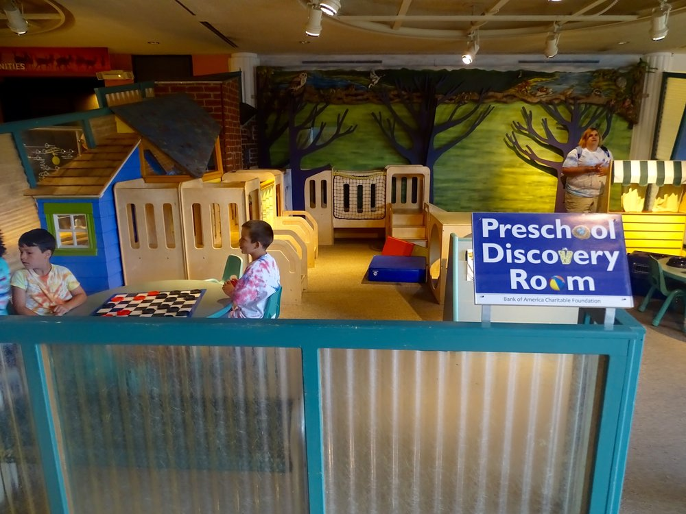 The under four crowd will be safe, and entertained, in the Preschool Discovery Room.