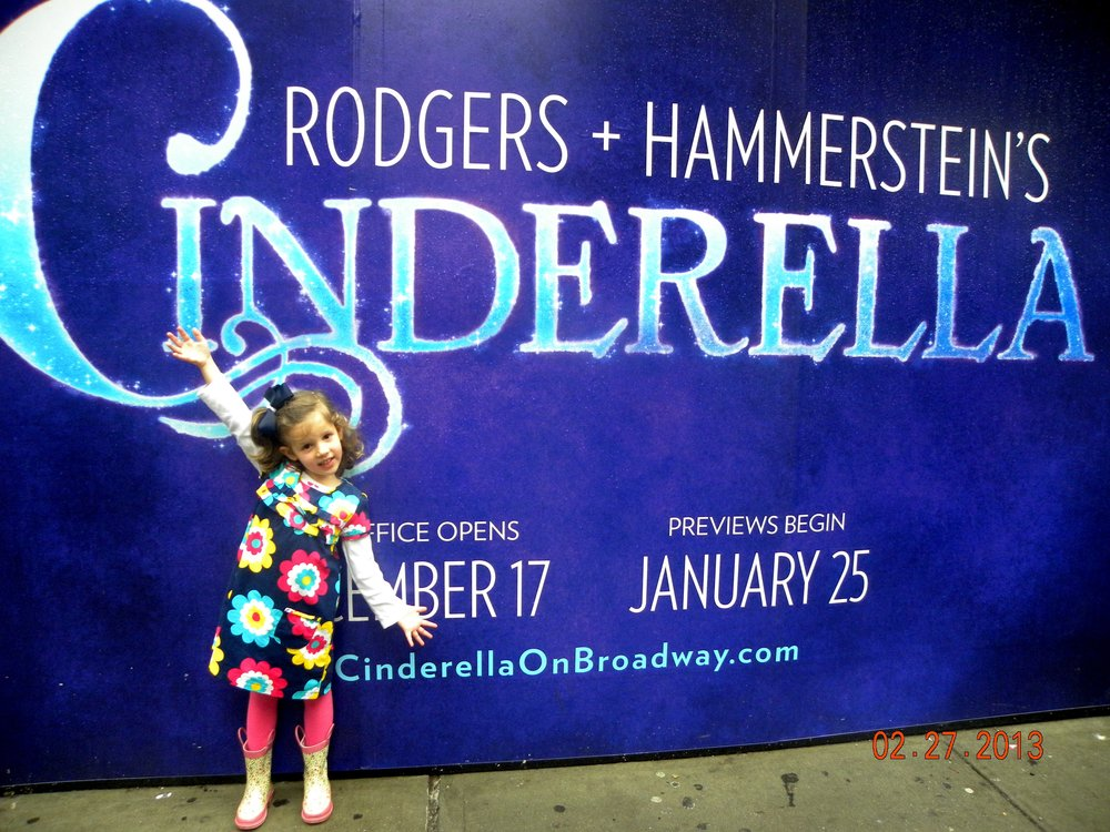 Each year for our daughter's birthday, we take the kids to a Broadway show. This was our first show, Cinderella, for her 5th birthday.