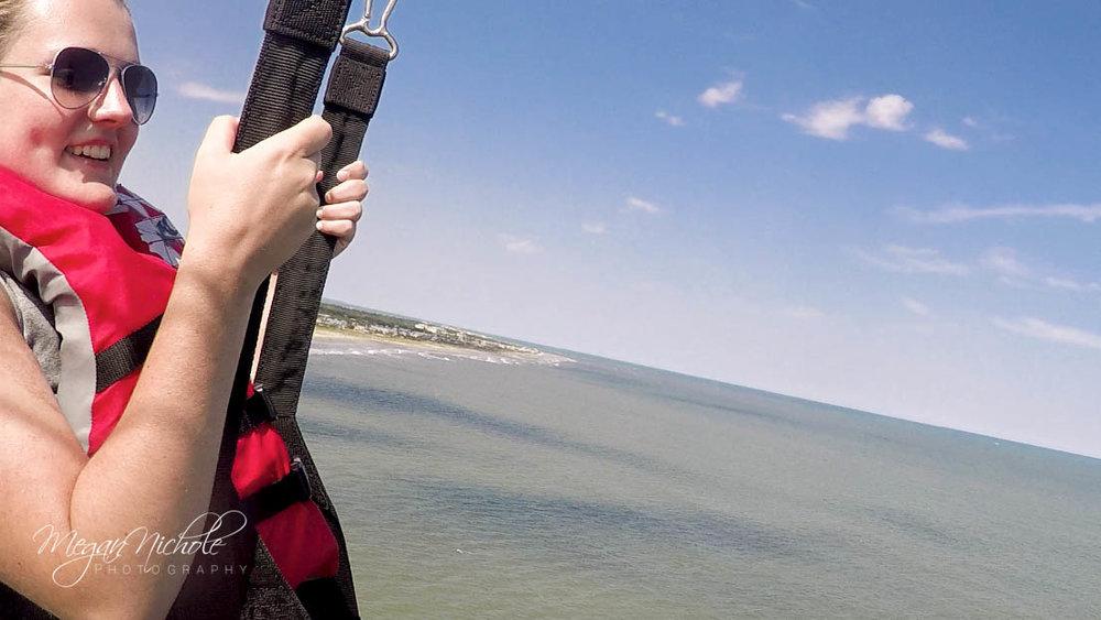 rachel parasailing