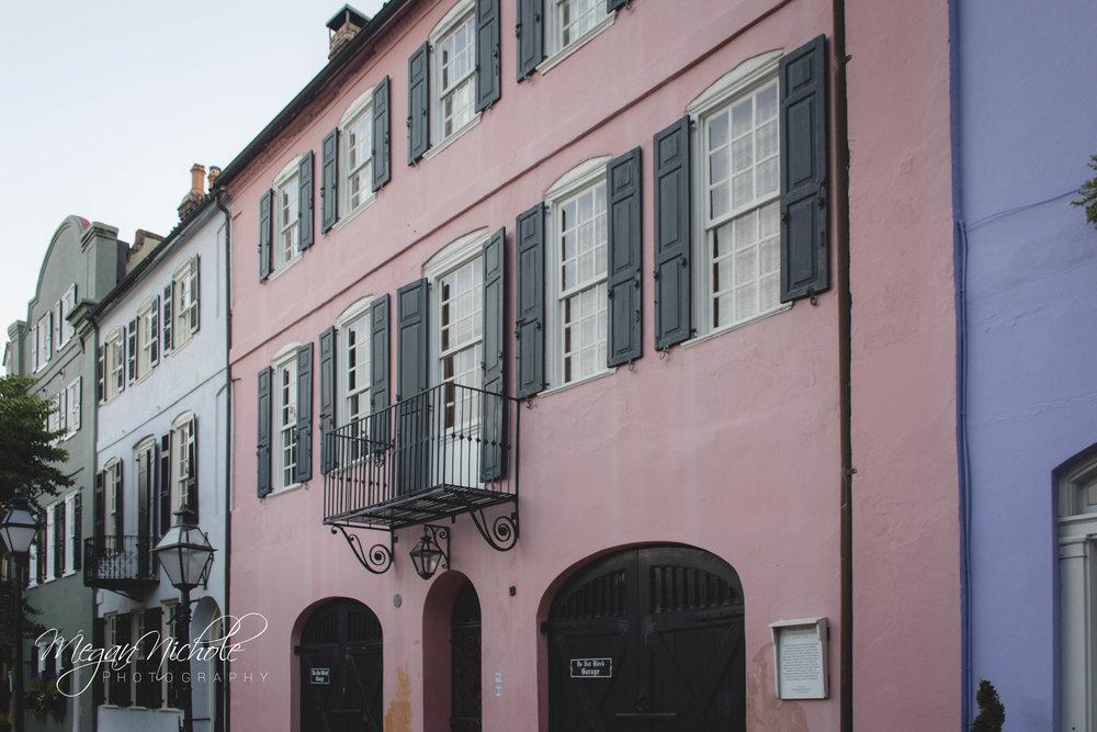 rainbow row Charleston homes