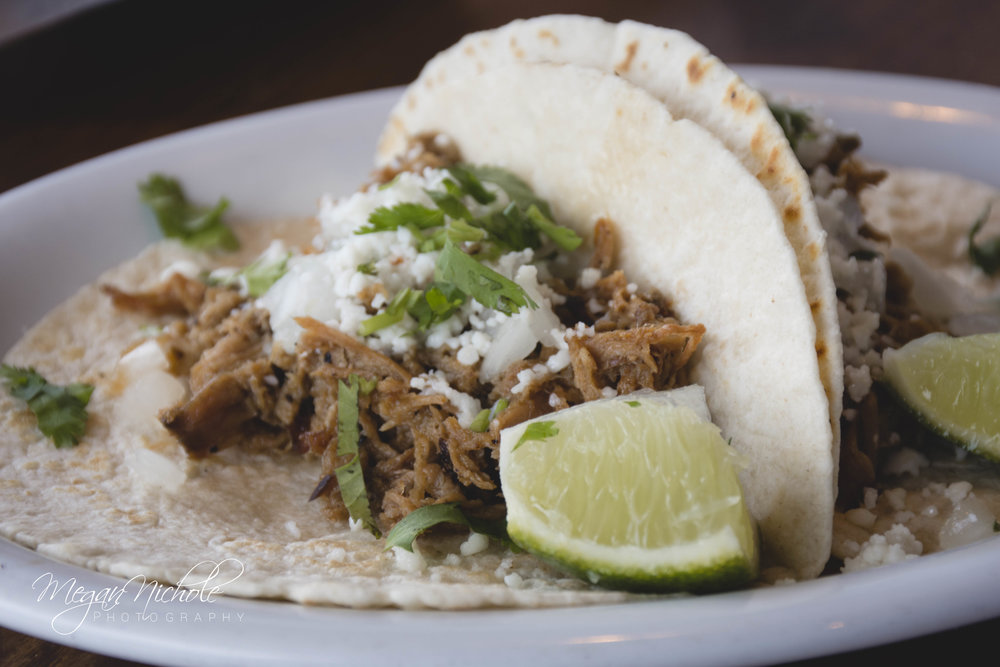 Mex One pork tacos carnitas