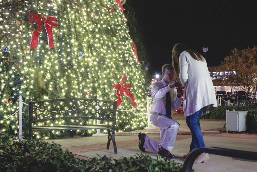 christmas proposal downtown conway