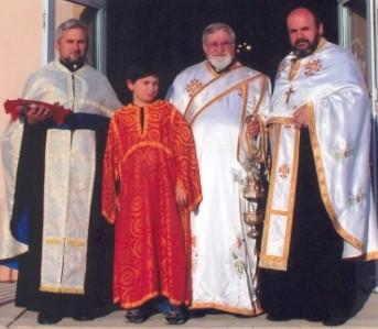 Rev. Petko Kesakovski, Jovan Kesakovski, Decon Naum Naumovski, & Very Rev. Trajko Boseovski