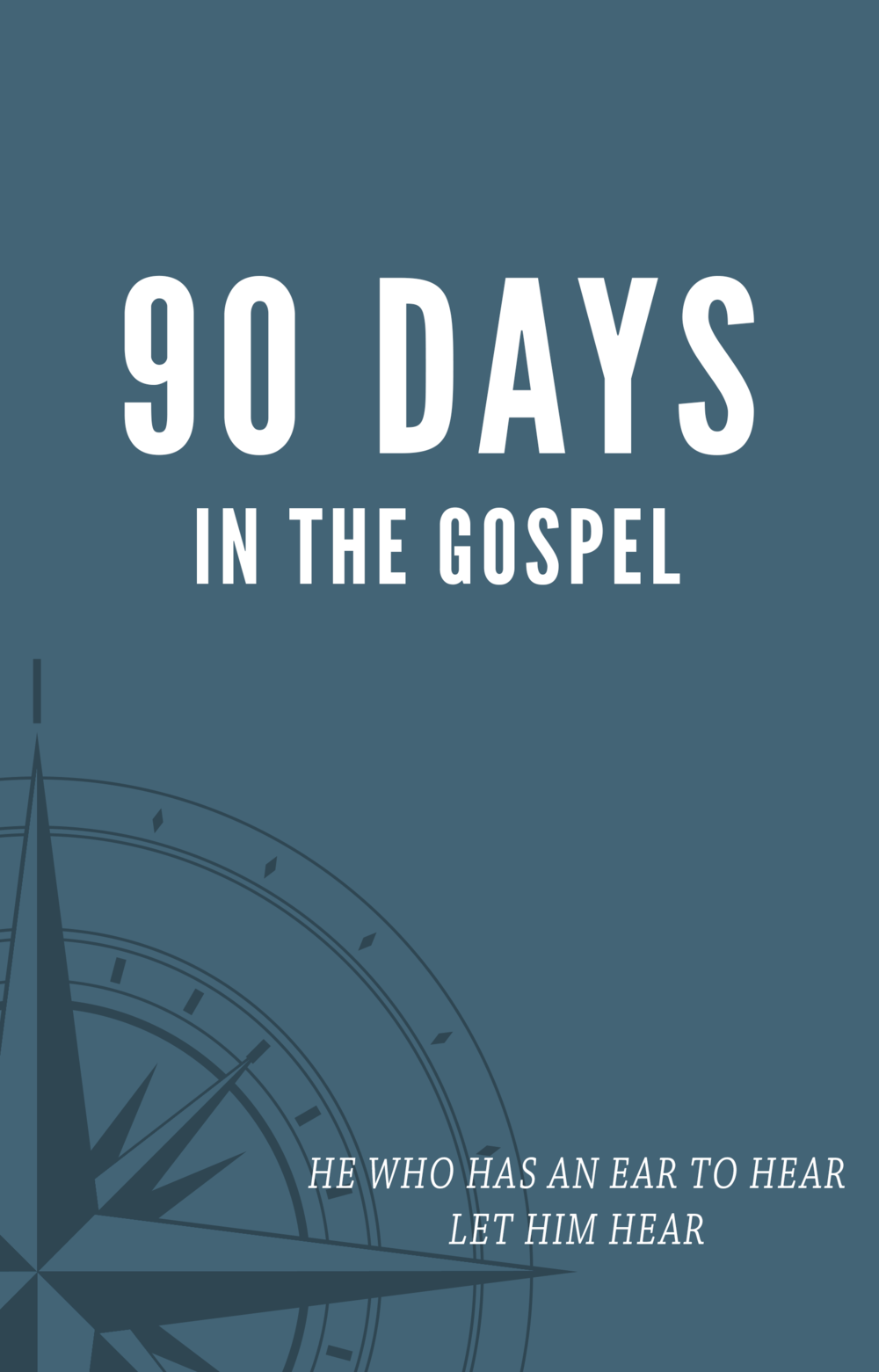 WHY THIS JOURNAL - Welcome to the 90 DAYS...journal.  A resource intended to help you draw nearer to God.  One of Jesus' frequent admonishments is the Gospels is
