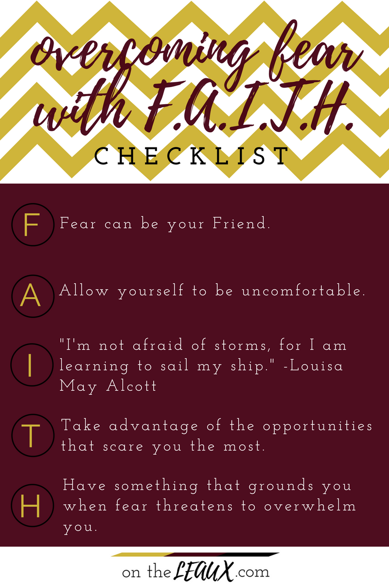 emphasis on  F  - Fear can be your Friend.