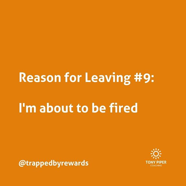 If you think you're about to be fired, then choosing to leave can help save face. But will it be easier for you to play the victim and not take control of the situation?⠀ ⠀ #corporate #corporatelife #businessblog #corporateamerica #corporatewellness #corporatewellbeing #corporatewomen #corporatecoaching #stressmanagement⠀ #corporatesocialresponsibility #getunstuck #coaching #bonus #fulfillment #carpediem #yolo #rewards #trapped #trappedbyrewards