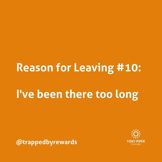 If you've been in your organisation for too long, it's a good reason to leave. How late can you leave it?⠀ ⠀ #corporate #corporatelife #businessblog #corporateamerica #corporatewellness #corporatewellbeing #corporatewomen #corporatecoaching #stressmanagement⠀ #corporatesocialresponsibility #getunstuck #coaching #bonus #fulfillment #carpediem #yolo #rewards #trapped #trappedbyrewards