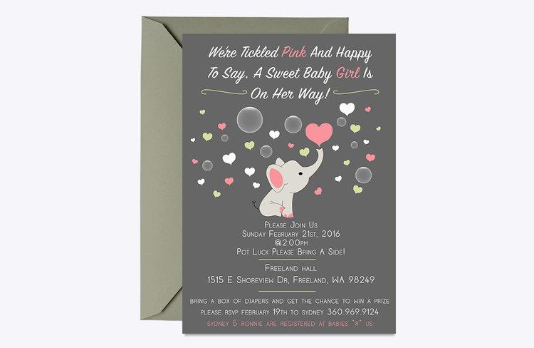 Baby Shower Invitation Helveydesign