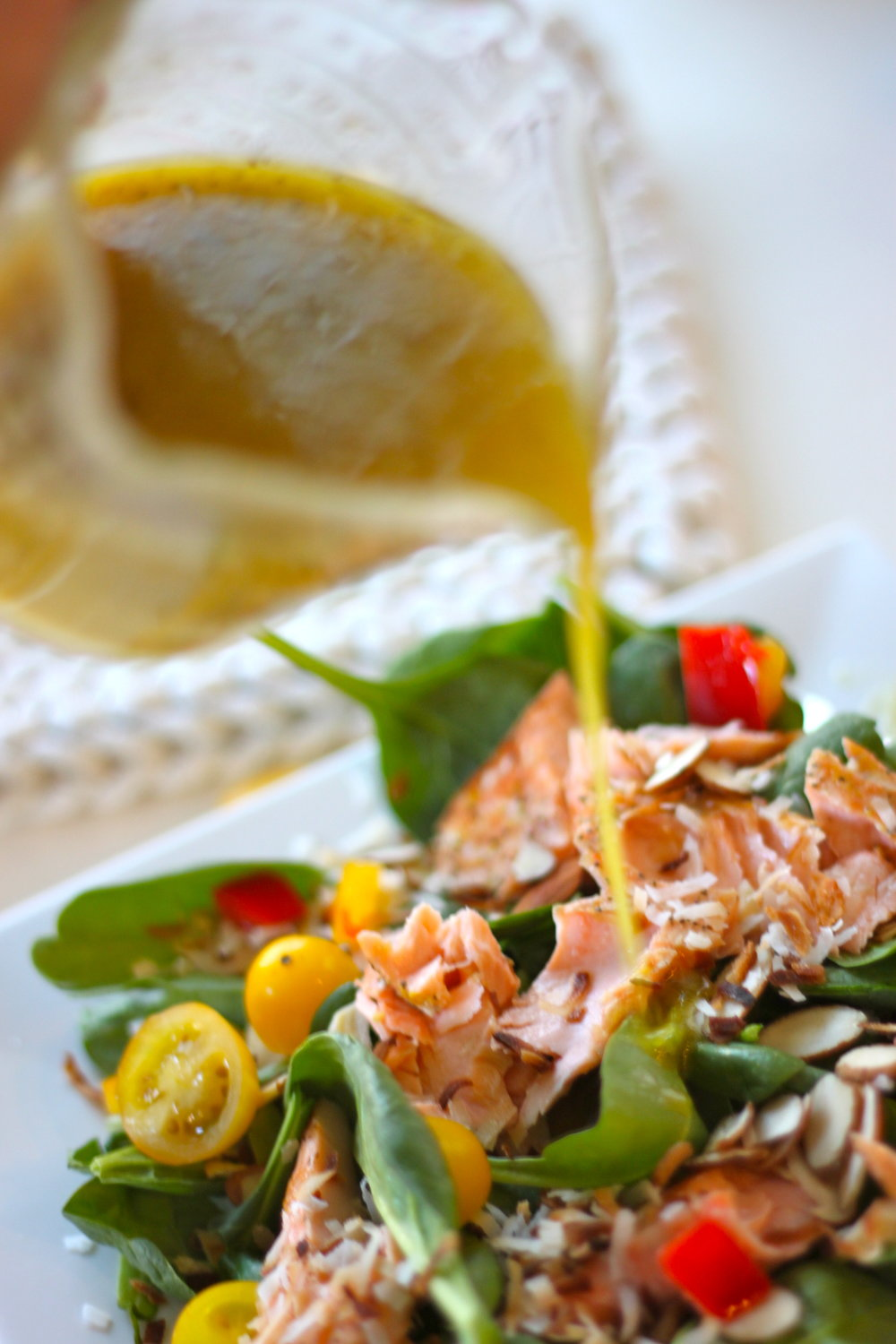 Summer Salmon Salad with Honey Dijon Dressing