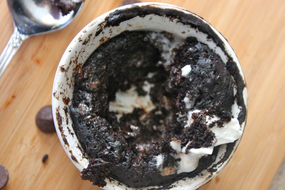 60 Second Chocolate Fudge Cake-Single Serving, Healthy. From The Diva Dish