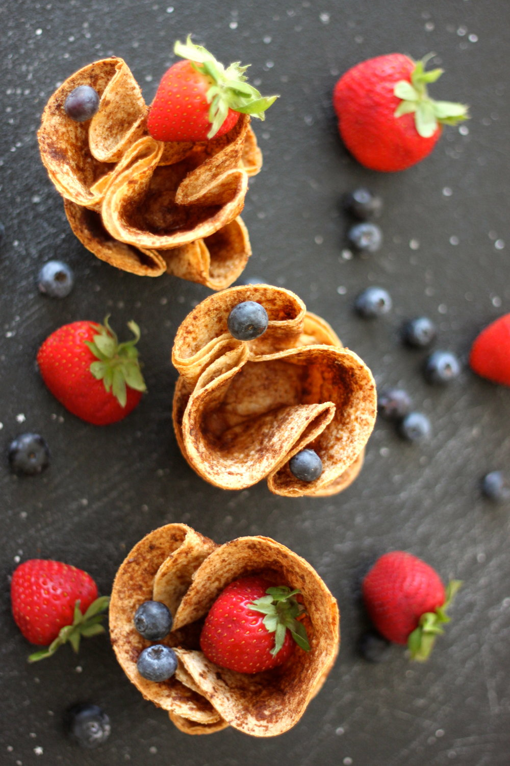Cinnamon Sugar Cups-For Ice Cream, Fruit, Etc! From The Diva Dish