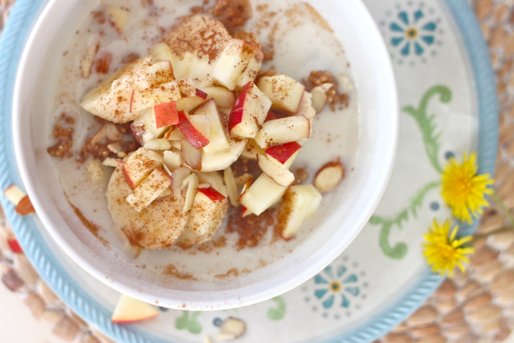 Overnight Apple Cider Quinoa Cereal from The Diva Dish