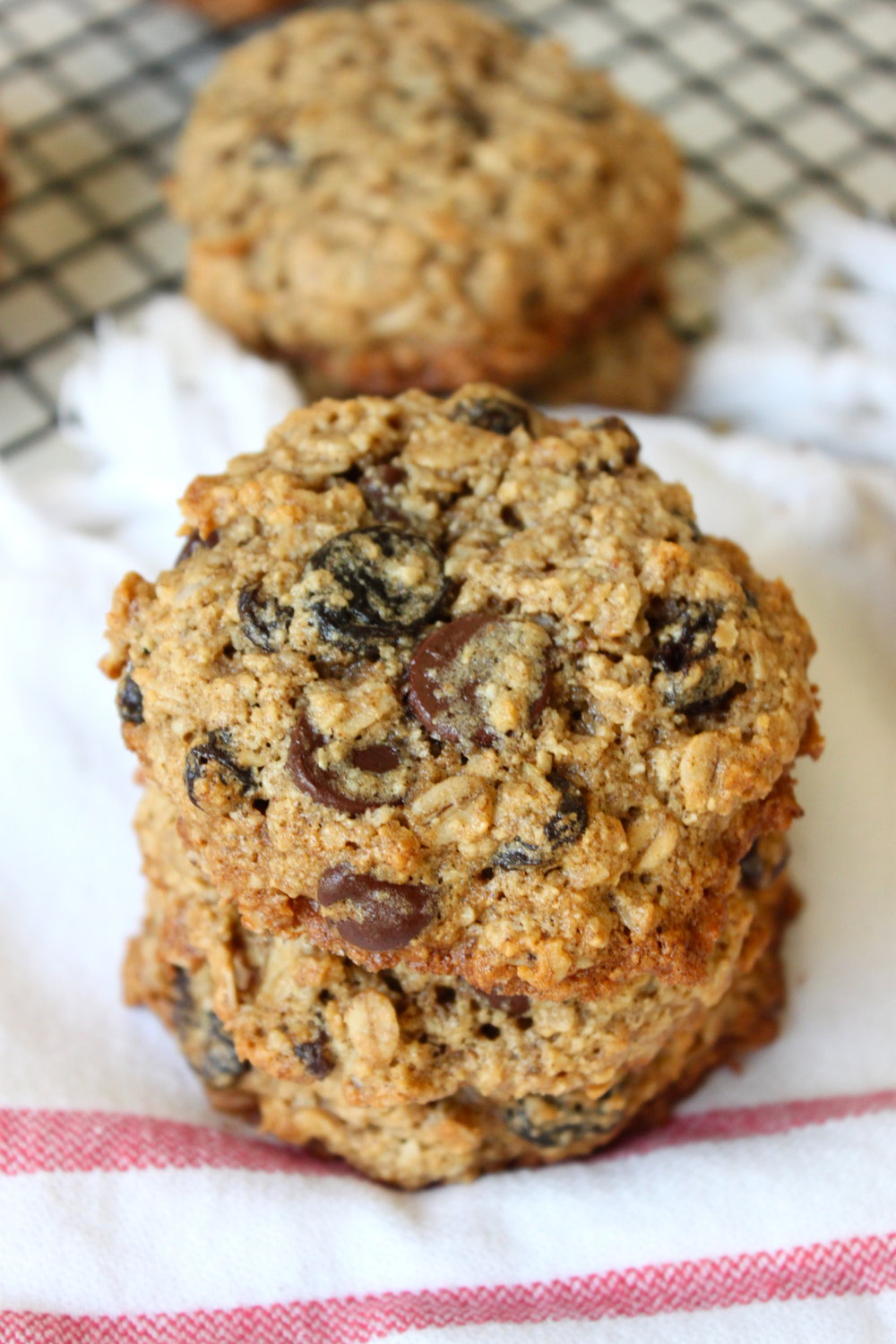 Healthy Oatmeal Raisin & Chocolate Chip Cookies from The Diva Dish