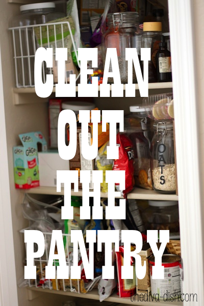 clean out the pantry