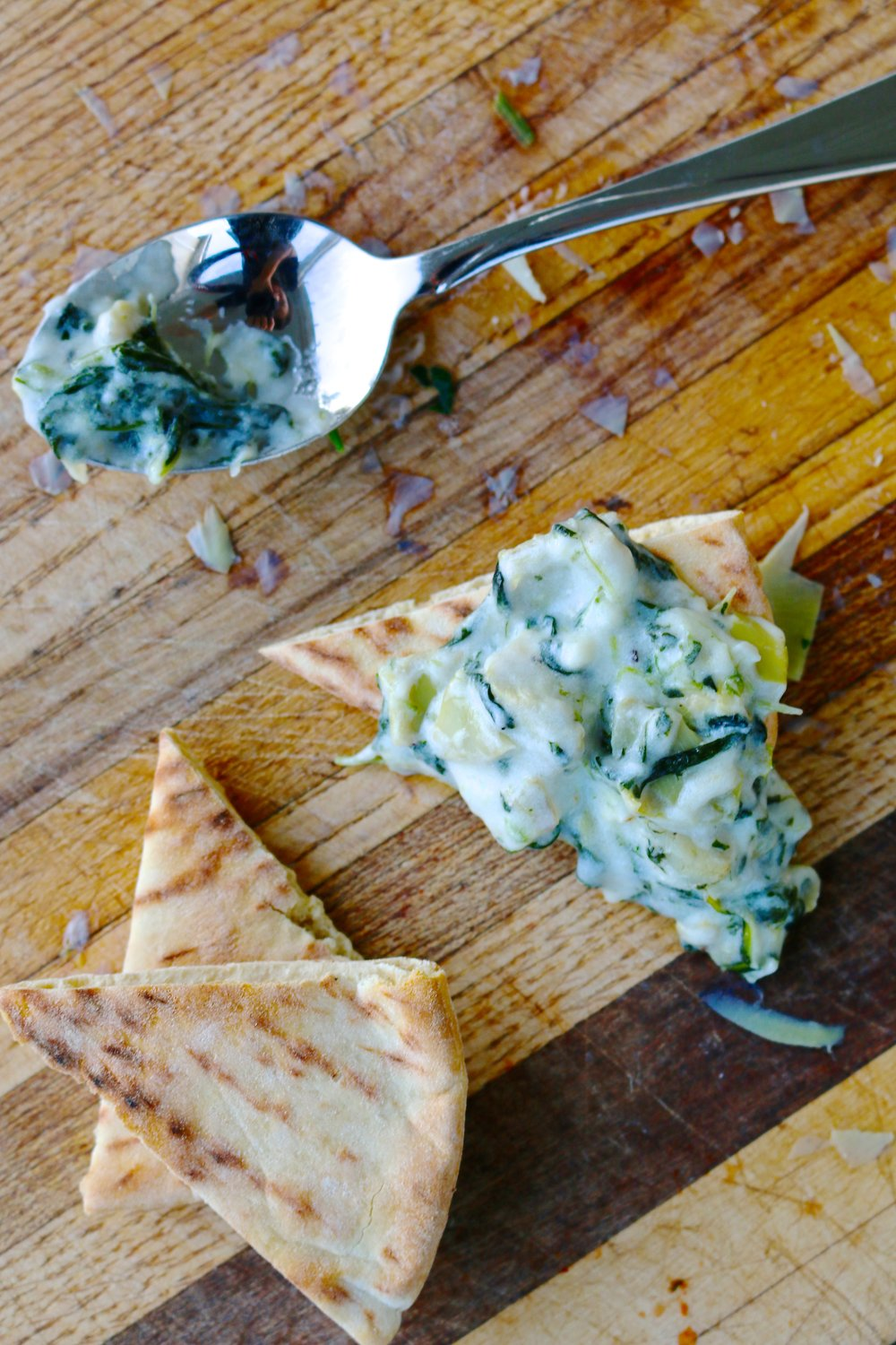 Protein Packed, Veggie Full, Kid Approved Spinach Artichoke Dip (Made Healthier!) From The Diva Dish, http://thediva-dish.com